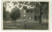 RPPC Old High School in BEDFORD PA Bedford County Real Photo Postcard