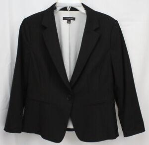 Ann Taylor Blazer Jacket All Season Career 1 Button Rayon Blend Classy 8