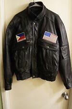Mens size M Alcantara Leather Jacket, Vintage Veteran, Philippines/ US