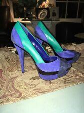 Jessica Simpson Women's Suede Royal Blue Heels Shoes 7.5