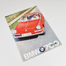 BMW 700 Coupé - alter Prospekt - Faltblatt - Vintage Sales Brochure - 1961