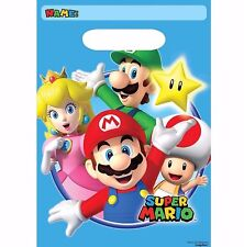 Super Mario Brothers Favor Loot Treat Bags Boy Birthday Party Favor Supplies Wii