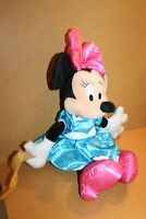"""Disney Parks Minnie Mouse in her blue dress with music baton 16"""" 2016"""
