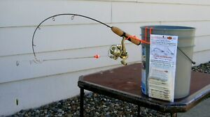 Ice fishing pole automatic hook setters. Fishing tackle for your ice fishing rod
