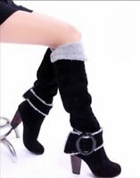 Womens Winter Shoes Faux Suede Block Heel Knee High Snow Boots Slouch Boots Size