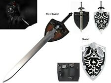 Ultimate Legend of Zelda Cosplay Dark Link Steel Master Sword Shield Set Black