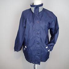 CS SIGNATURE Women's Jacket Reversible sz s navy blue ,beige coat r5