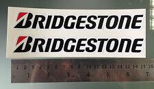 Calcomanía de pegatinas Bridgestone Para Carenado / Basculante - 170 mm x 25 mm (par)
