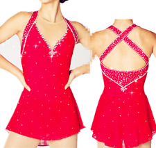 2018 Ice Figure skating dress  competition  Dance skating dress customize size