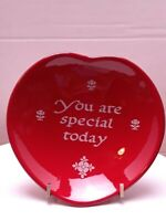 THE ORIGINAL RED PLATE COMPANY Waechtersbach Heart Plate YOU ARE SPECIAL TODAY