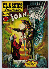 CLASSICS ILLUSTRATED #78 5.5 JOAN OF ARC 1ST OW/W PAGES GOLDEN AGE