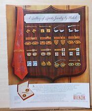 1953 magazine ad for Hickok Sport Jewelry for men - Sport theme tie bars, links