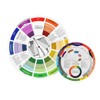 2pcs Color Mixing Wheel Blending Pallet Set For Permanent Makeup Nail Art