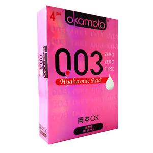 Okamoto 003 Hyaluronic Acid Condones Ultrafino Japón Lubricados Condones BX4