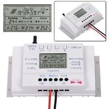 2X 40A 12/24V MPPT LCD Solar Panel Regulator Charge Controller 3 Timer&5V USB HS