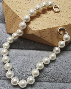 """TOUS 812341540 Hold Pearl and Silver Bracelet7.5mm/0.3""""+175mm/6.8"""""""