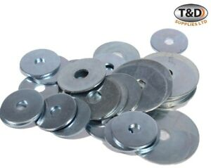 200g OF 'MIXED IN THE PACK' PENNY WASHERS ZINC PLATED MULTI PURPOSE WASHER BZP