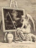 WILLIAM HOGARTH ENGLISH TIME SMOKING PICTURE OLD ART PAINTING POSTER BB6525A
