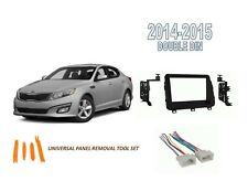 Fits KIA OPTIMA 2014-2015 Double DIN Car Stereo Dash Install Kit, Wire Harness