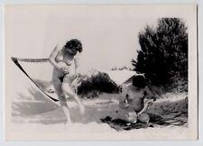 Nudism nude women on Beach/donne nude nudo * VINTAGE 50s amatoriale PHOTO