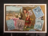 Mint Liebig Company Fleisch Extract Mexico Stamp on Stamp Postcard