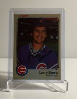 LARRY BOWA CUBS AUTO 83 FLEER