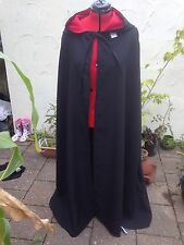 hooded cloak black  With Red lined hood more colours available (CD39) wizard