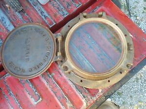 GREAT LAKES ENGINEERING WORKS CAST IRON AND BRASS  SHIPS PORTHOLE CHECK PHOTOS