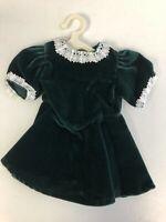 MINT American Girl Molly Evergreen Green Velvet Dress 1st Edition RARE No Button