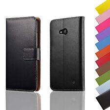 Brieftasche HTC One / Desire Handytasche + Panzer Glas Folie Flip Case Etui Juno