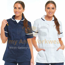 Ladies Tunic Healthcare Nurse Uniform Medic Dental Therapist Work Blouse Women