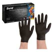 Aurelia Bold Black Nitrile Gloves Examination - Medium -100/Box