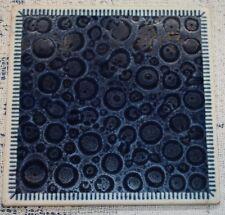 "Pastorelli Modena Savignano Ceramic Tile Cobalt Blue Italy 6"""