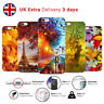 AUTUMN SEPTEMBER COLORFUL MAPLE LEAF EIFFEL PHONE CASE COVER FOR IPHONE