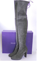 NEW Stuart Weitzman All Legs Thigh High Boot Shoe~Slate Suede~US 8.5~retail $875