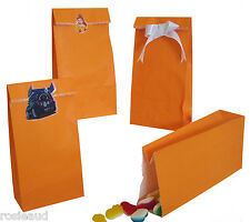 BULK CLEARANCE 400 ORANGE PAPER LOLLY PARTY BIRTHDAY LOOT GIFT BAGS