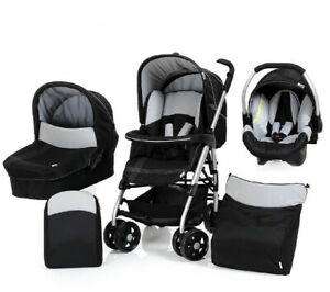 Hauck Pack Trio All in One Pushchair set - Silver / Caviar