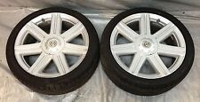 """2004-2008 Chrysler Crossfire Factory Front Wheels, 18x7"""" w 225/40/18 Tires CF006"""
