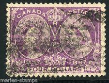 CANADA SCOTT#64   $4 JUBILEE USED AS SHOWN