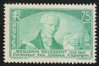 France 1935 MNH Mi 299 Sc 301 Jules Paul Benjamin Delessert,French banker **