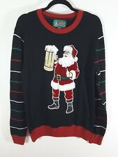 Santa With A Beer Ugly Tacky Christmas Sweater Multiple Sizes