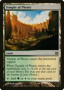 Temple of Plenty Born of the Gods NM Land Rare MAGIC GATHERING CARD ABUGames