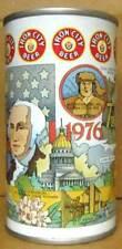 IRON CITY BEER WEST VIRGINIA BICENTENNIAL ss CAN Pittsburgh PENNSYLVANIA 1976 1+