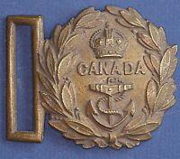 WW1 or WW2 Canada Canadian Naval belt buckle - King's Crown [14350]