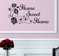 Flower Removable Art Vinyl Quote Wall Sticker Decal Mural Home Room Decor Sweet'