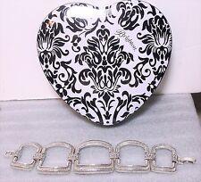 Brighton Large Wide Link Statement Bracelet Brushed Silver +Heart Tin NWOT New