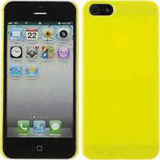 Coque Rigide Apple iPhone 5 / 5s / SE - Candy jaune + films de protection