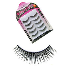 New 5 Pairs Japanese Fake Eye Lashes Cross Black Natural Eyelashes Beauty Makeup