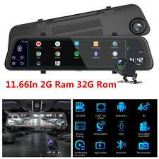 11.66inch FHD Dual Lens Car DVR Dash Cam Rearview Mirror Video Recorder Camera