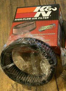 (1) K&N E-3320 Air Filter Brand New Round 6.25 x 1.75